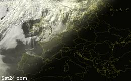 Układ chmur - Polska