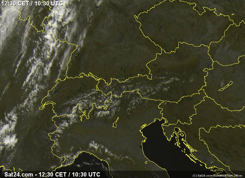Satelite over Alps, visible