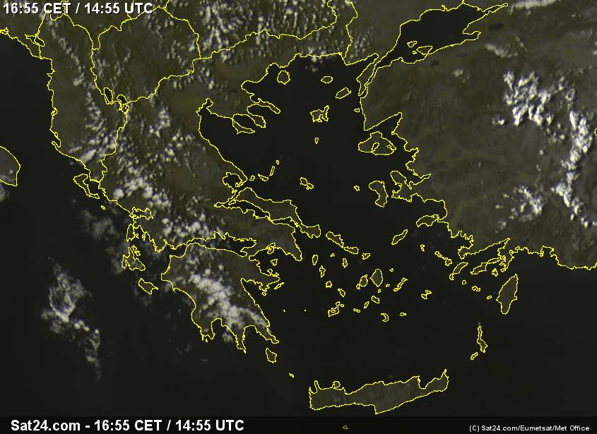 Meteosat - visible - Greece